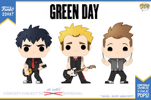 GreenDay Fakeo POPs by cartoonjunkie