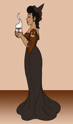 Chocolate-Covered Coffee Bean Witch by BatNeko
