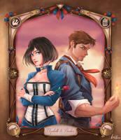 Elizabeth e Booker by LeoFoxArt