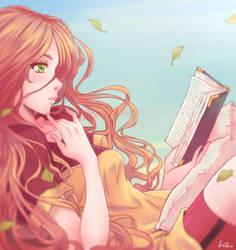 Reading by LeoFoxArt
