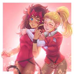 Catra and She-ra by LeoFoxArt