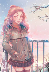 Winter by LeoFoxArt