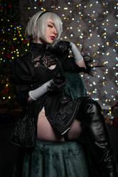 Nier Automata 2B Cosplay by SweetYuzuCosplay
