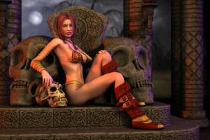 Skull Queen II by hhemken