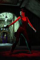 Jane in Peril, In a Dark Lobby by hhemken