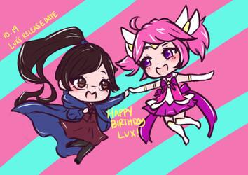 [Chibi Doodle]Happy Birthday Lux! by Marzellene