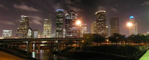 Houston Night Skyline by UED77