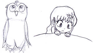 Hibi and Myowl sketch by radstylix