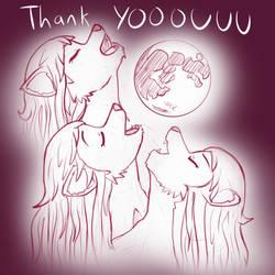 July 2018 Thank You art - Three Wolf Moon Tammy by radstylix