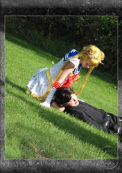 Sailor Moon and Tuxedo Mask by lxl-adie-lxl