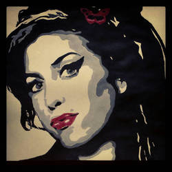 Amy Winehouse painting  by Orkespip
