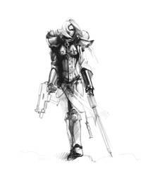 Sketch sisters of battle by LegioMihiNomenEst