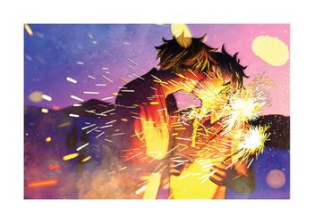 Lovember2018 #10 : [ The fire flowers ] by Bakarasu