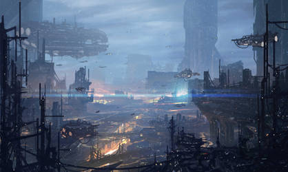 Blue City by ArtofJonathanPowell