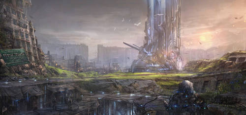Mech World Environment by ArtofJonathanPowell
