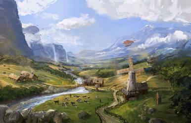 Fantasy Countryside by ArtofJonathanPowell