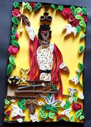 Quilled Tarot: The Magician by El-Sharra