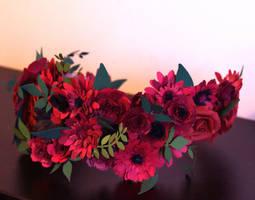 Quilled Flower Crown by El-Sharra