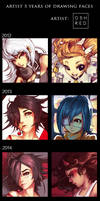 OSHRED: 5 Years of Drawing Faces by oshRED