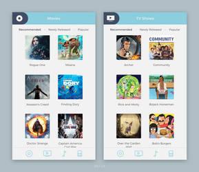 Daily UI #025 - TV App by Terrance8d