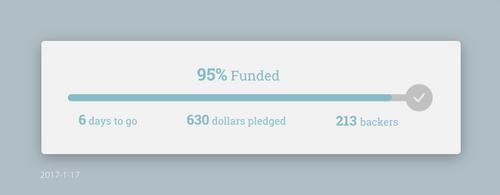 Daily UI #032 - Crowdfunding Progress by Terrance8d