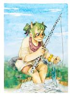 Coko fishing by inu-steakcy
