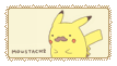 Moustache pikachu by idcaus