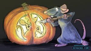 Drawlloween 2015 #26 RAT by Eevachu