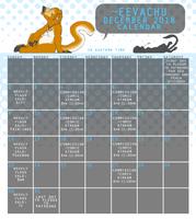 December 2018 Calendar by Eevachu