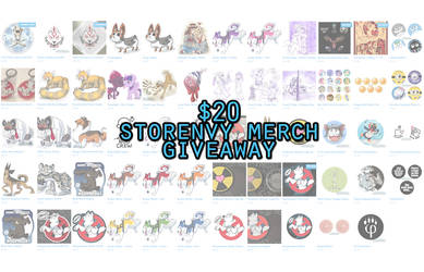 $20 Storenvy Merch Giveaway on Twitter by Eevachu
