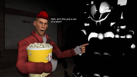 *Eats Popcorn* by silvertheangle