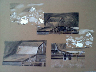 The Barn In the Mountains collage by Lakesidesoccer