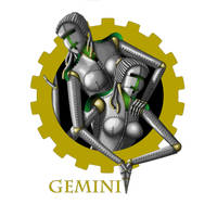 Steampunk zodiac - Gemini by flamarahalvorsen