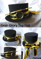 Steampunk Gear-glory Top hat by flamarahalvorsen