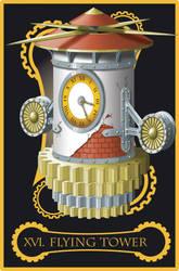 Steampunk tarot of The Tower by flamarahalvorsen