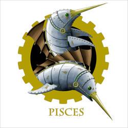 Steampunk Zodiac - Pisces by flamarahalvorsen