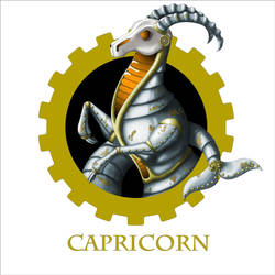 Steampunk Zodiac - Capricorn by flamarahalvorsen