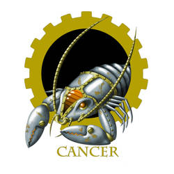 Steampunk Zodiac - Cancer by flamarahalvorsen