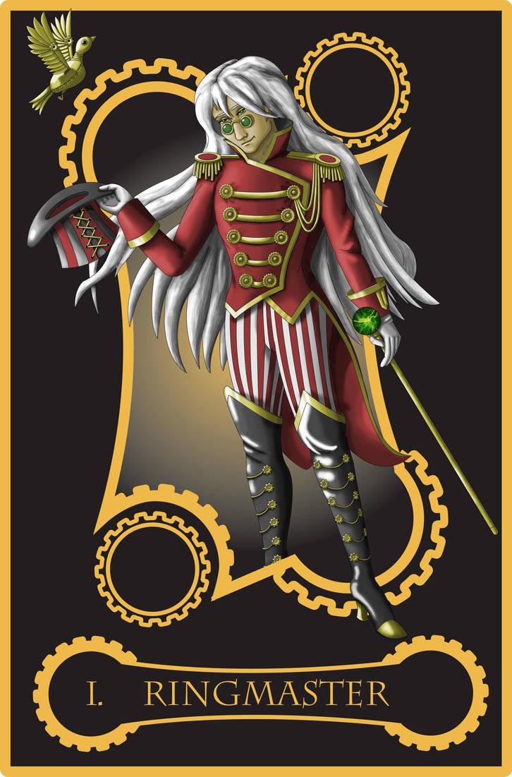 Steampunk tarot of Magician by flamarahalvorsen