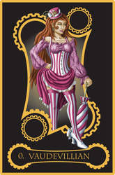 Steampunk Tarot of the Fool by flamarahalvorsen