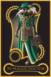 Steampunk tarot of the Devil by flamarahalvorsen