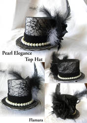Pearl Elegance Top Hat by flamarahalvorsen