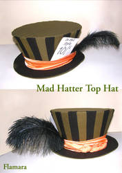Mad Hatter Top Hat by flamarahalvorsen