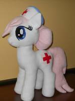 My Little Pony NURSE REDHEART custom plush by calusariAC