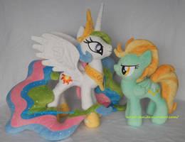 Princess Celestia and Lightning Dust by calusariAC