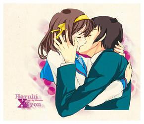 Haruhi x Kyon - fanart by Ninamo-chan