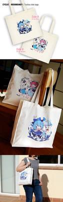 Touhou tote bags - promo pics by Ninamo-chan