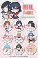 Kill la Kill - button set by Ninamo-chan