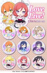 Love Live! ~show time~ button set by Ninamo-chan