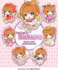 Card Captor Sakura - acrylic keychains by Ninamo-chan